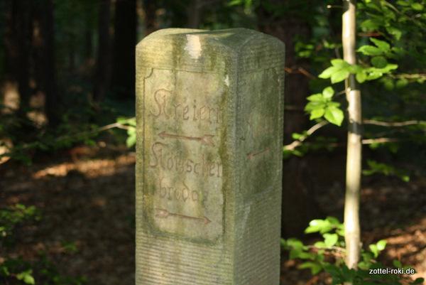 Die alte Säule ganz neu - mitten im Wald