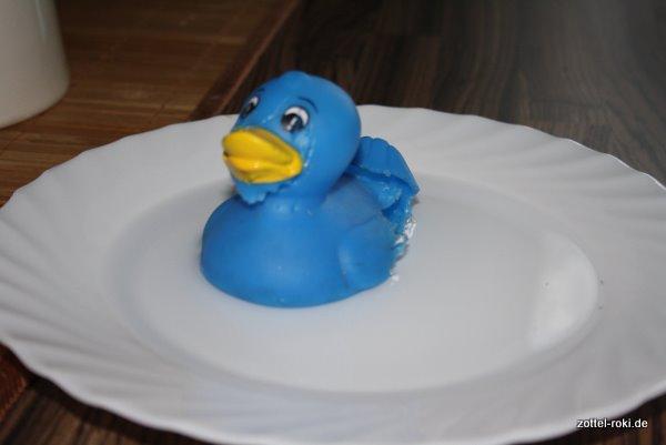 Quietsch-Ente beim Entspannungsbad